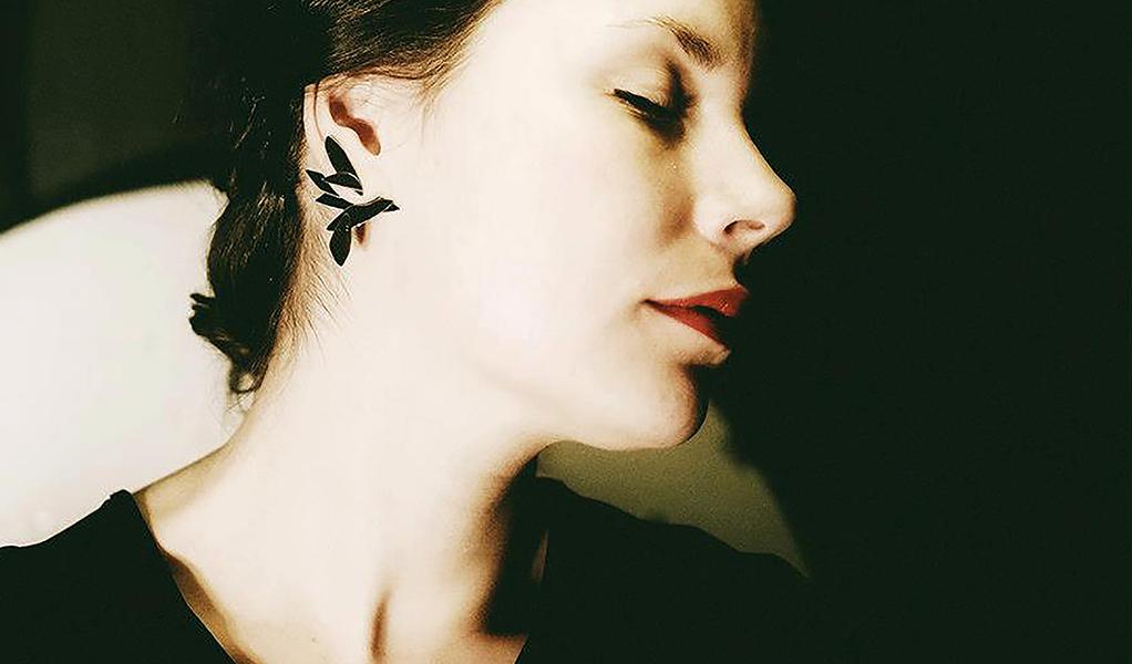 2in1 earrings in blackened silver 2012