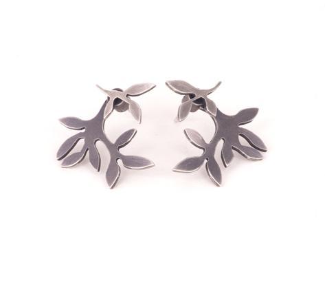 2in1 earrings in blackened silver 2015